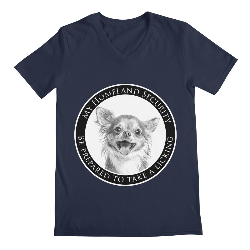 Homeland security Chihuahua Men's Regular V-Neck by Andy's Paw Prints Shop