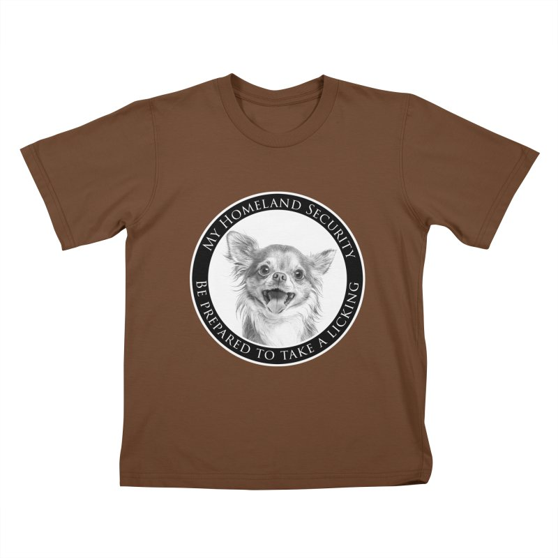 Homeland security Chihuahua Kids T-Shirt by Andy's Paw Prints Shop