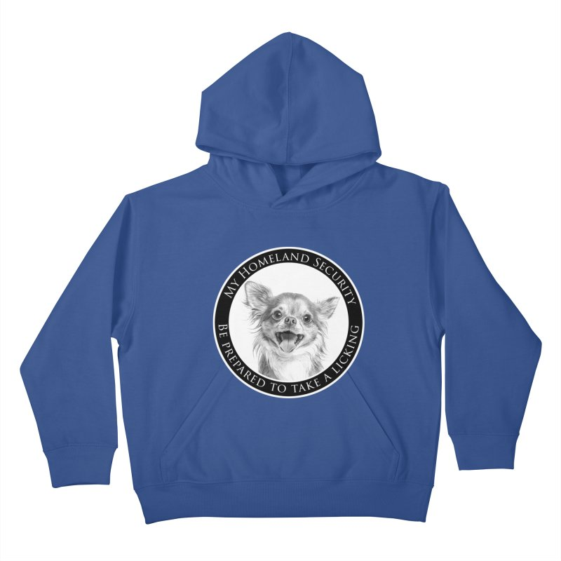 Homeland security Chihuahua Kids Pullover Hoody by Andy's Paw Prints Shop
