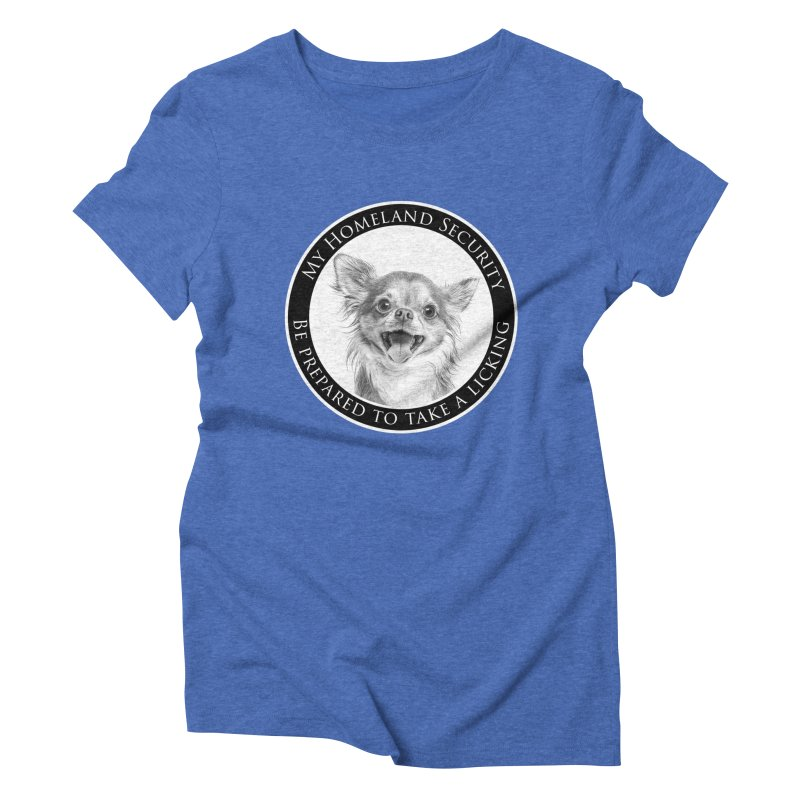 Homeland security Chihuahua Women's Triblend T-Shirt by Andy's Paw Prints Shop