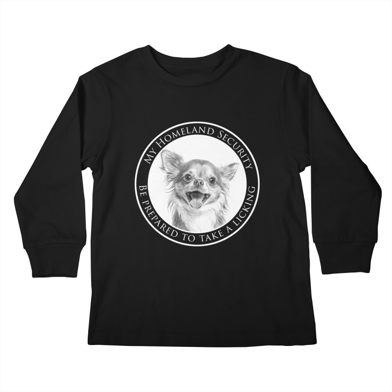 Homeland security Chihuahua Kids Longsleeve T-Shirt by Andy's Paw Prints Shop