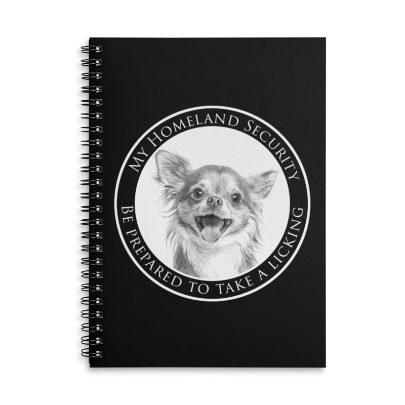 Homeland security Chihuahua Accessories Lined Spiral Notebook by Andy's Paw Prints Shop