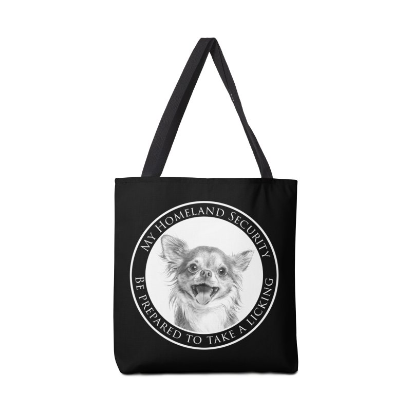 Homeland security Chihuahua Accessories Tote Bag Bag by Andy's Paw Prints Shop