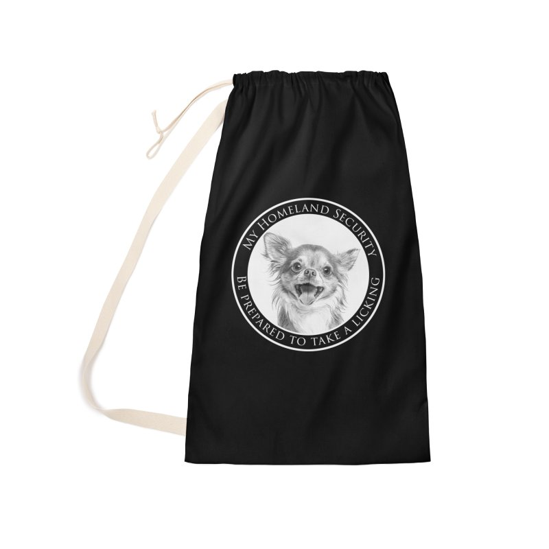 Homeland security Chihuahua Accessories Laundry Bag Bag by Andy's Paw Prints Shop