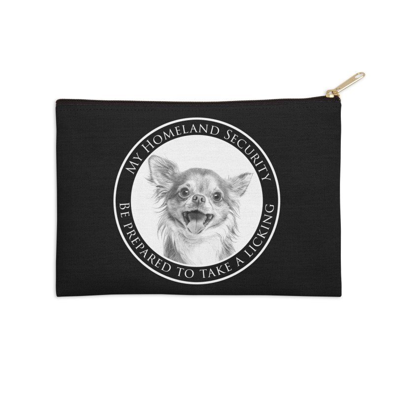 Homeland security Chihuahua Accessories Zip Pouch by Andy's Paw Prints Shop