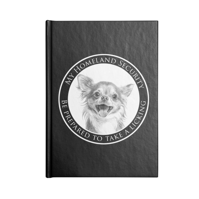 Homeland security Chihuahua Accessories Lined Journal Notebook by Andy's Paw Prints Shop