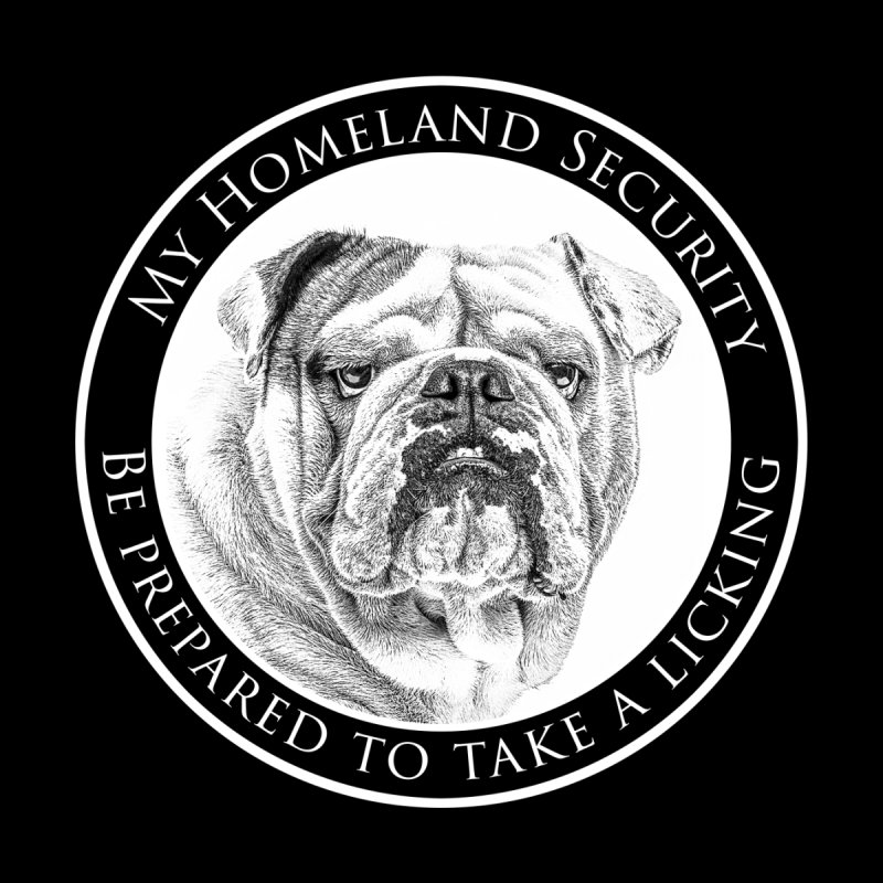 Homeland security Bulldog by Andy's Paw Prints Shop