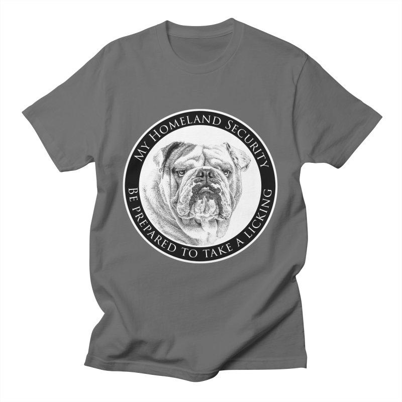 Homeland security Bulldog Men's T-Shirt by Andy's Paw Prints Shop