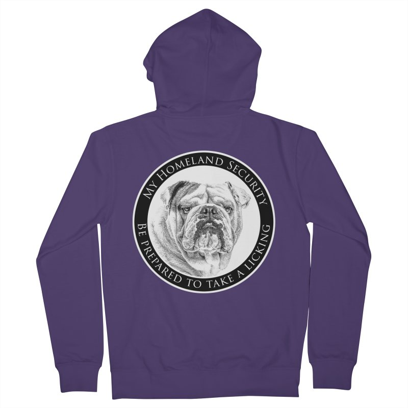 Homeland security Bulldog Women's Zip-Up Hoody by Andy's Paw Prints Shop
