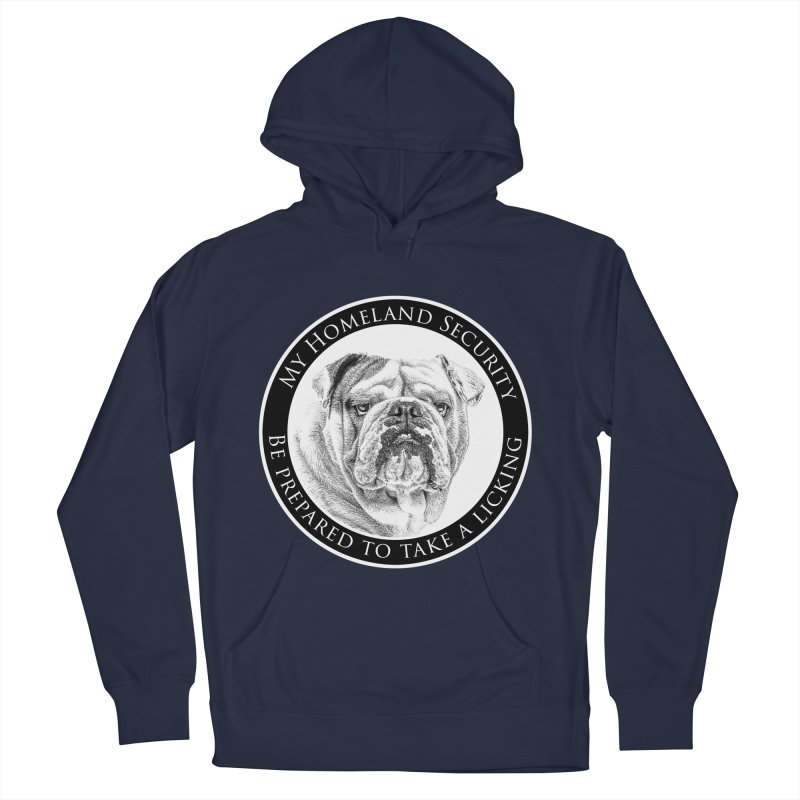 Homeland security Bulldog Men's French Terry Pullover Hoody by Andy's Paw Prints Shop