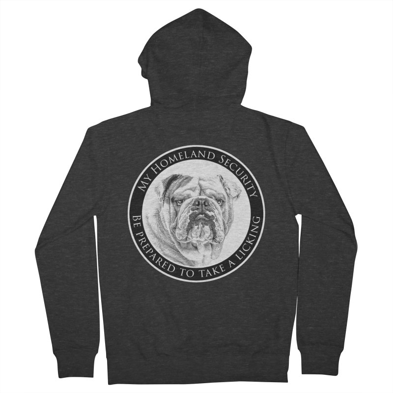 Homeland security Bulldog Women's French Terry Zip-Up Hoody by Andy's Paw Prints Shop