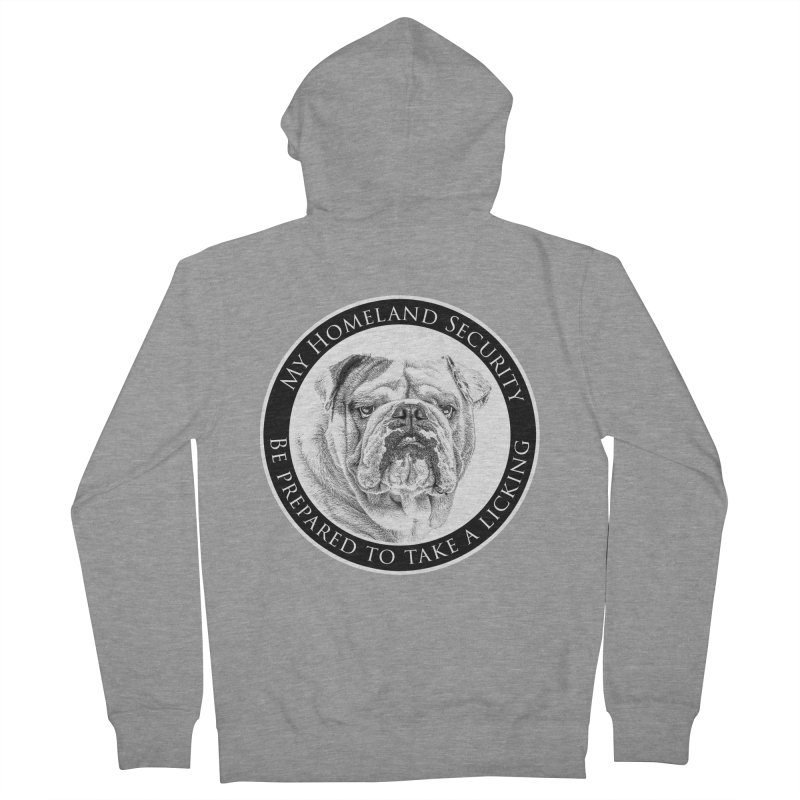 Homeland security Bulldog Men's French Terry Zip-Up Hoody by Andy's Paw Prints Shop