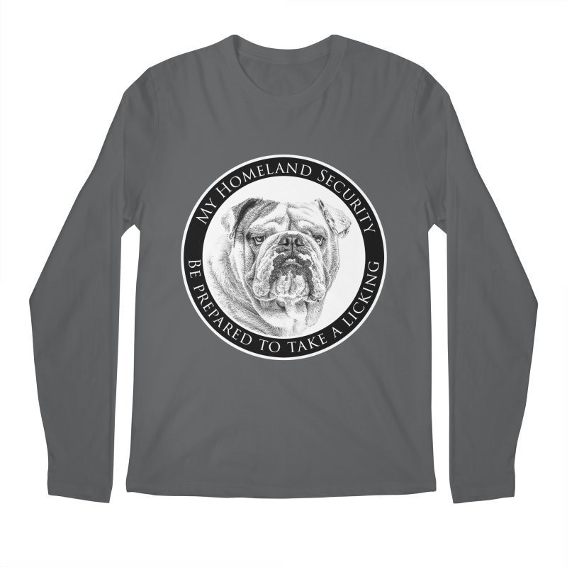 Homeland security Bulldog Men's Longsleeve T-Shirt by Andy's Paw Prints Shop
