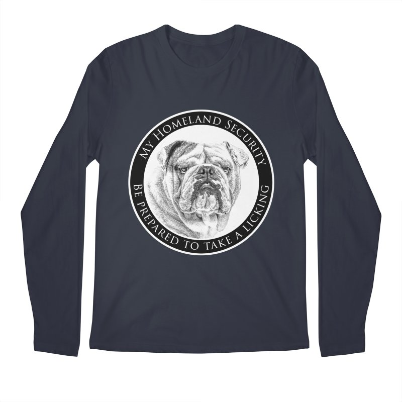 Homeland security Bulldog Men's Regular Longsleeve T-Shirt by Andy's Paw Prints Shop