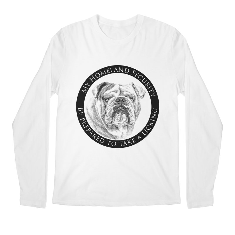 Homeland security Bulldog Men's Regular Longsleeve T-Shirt by Andy's Paw Prints Shop