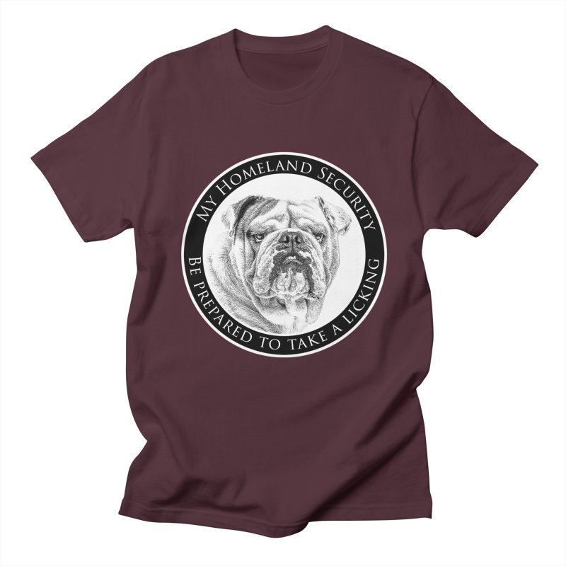 Homeland security Bulldog Men's Regular T-Shirt by Andy's Paw Prints Shop
