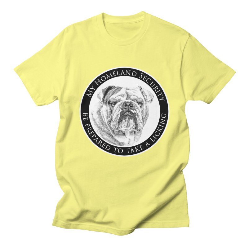 Homeland security Bulldog Women's Regular Unisex T-Shirt by Andy's Paw Prints Shop
