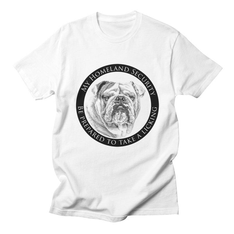 Homeland security Bulldog Men's Regular T-Shirt by Andy's Paw Prints Shop