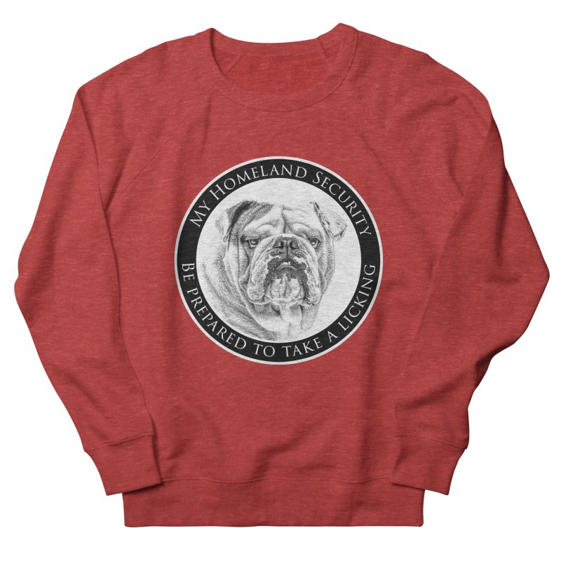Homeland security Bulldog Men's French Terry Sweatshirt by Andy's Paw Prints Shop