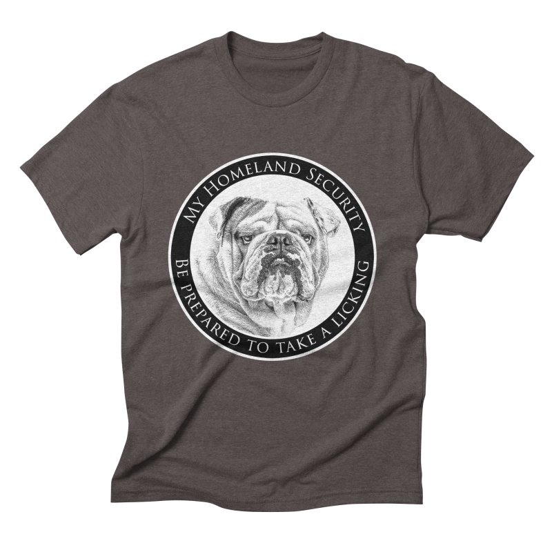 Homeland security Bulldog Men's Triblend T-Shirt by Andy's Paw Prints Shop