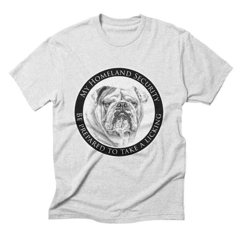 Homeland security Bulldog Men's Triblend T-Shirt by Andy's Paw Prints Shop