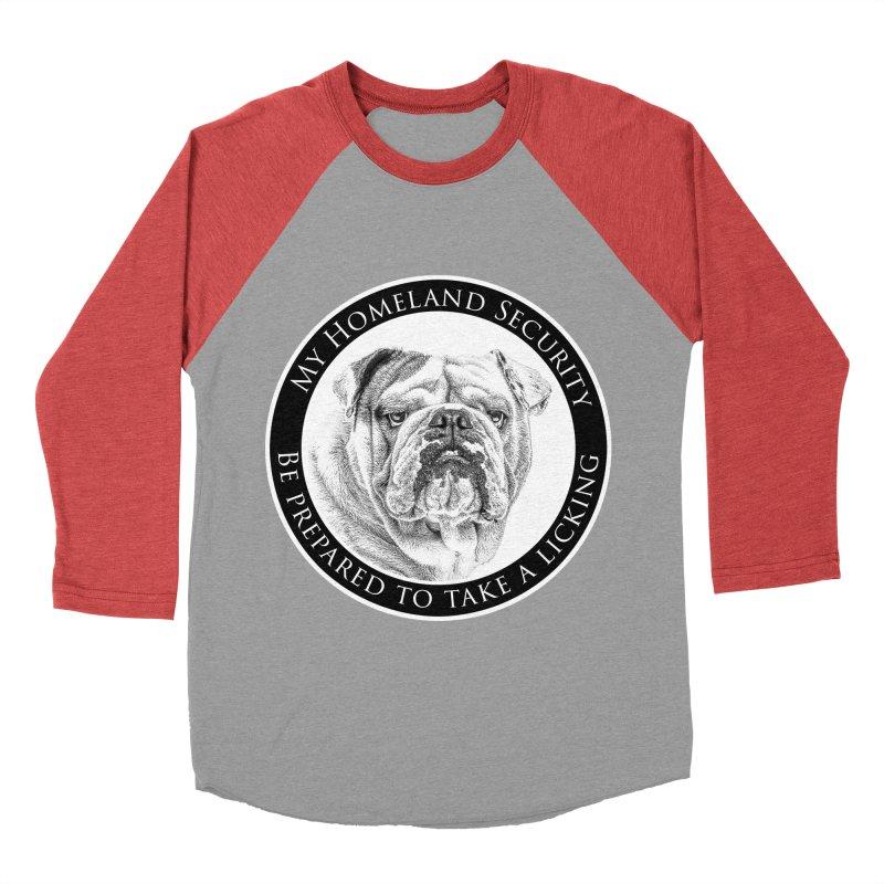 Homeland security Bulldog Women's Baseball Triblend Longsleeve T-Shirt by Andy's Paw Prints Shop