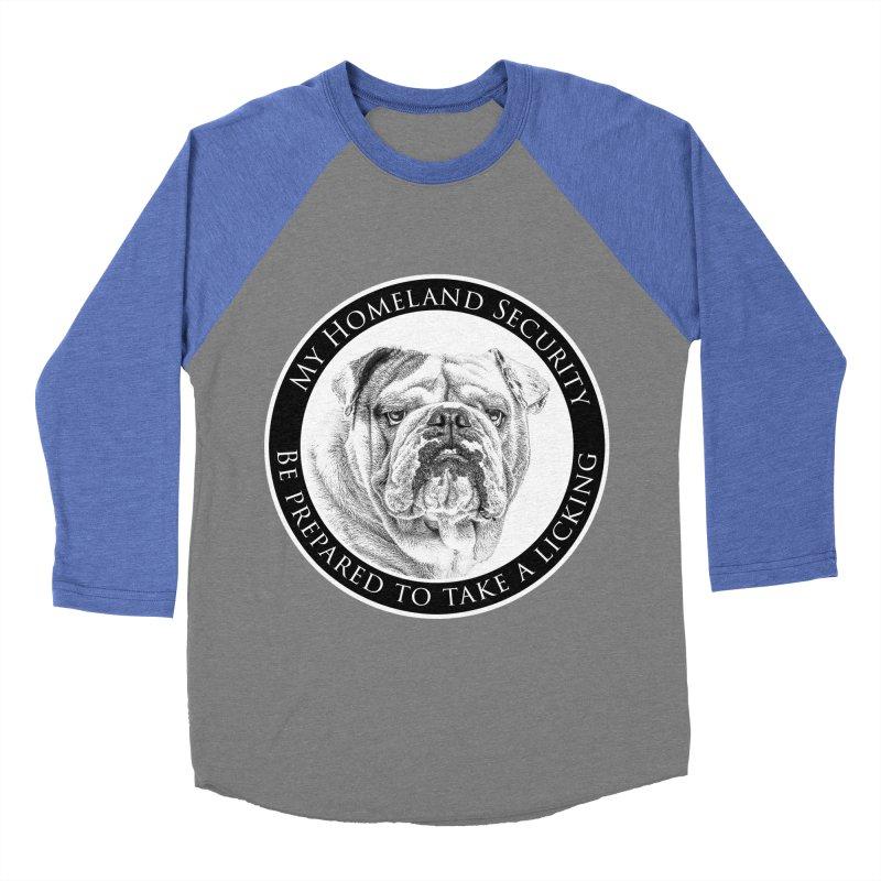 Homeland security Bulldog Men's Baseball Triblend Longsleeve T-Shirt by Andy's Paw Prints Shop