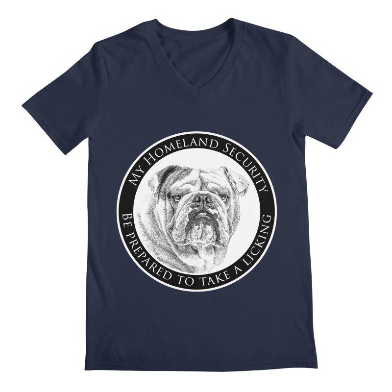 Homeland security Bulldog Men's Regular V-Neck by Andy's Paw Prints Shop