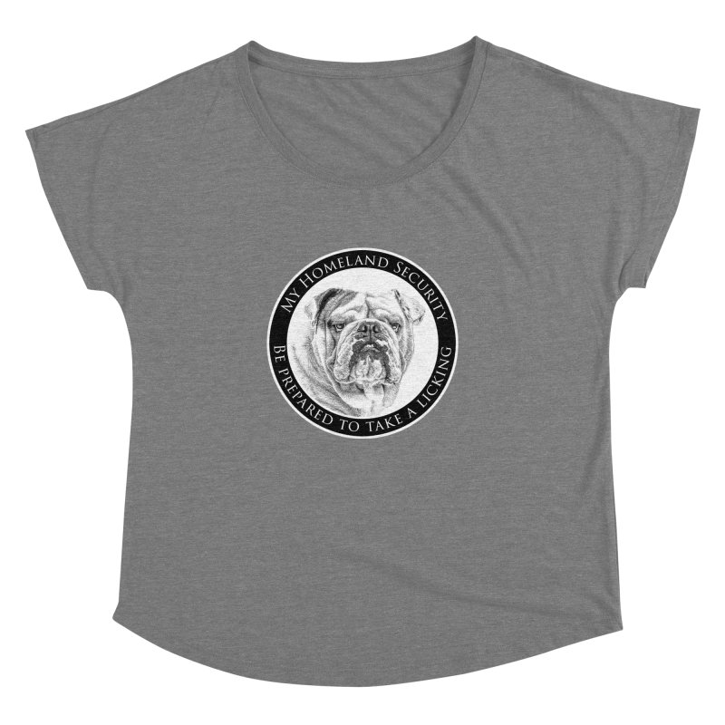 Homeland security Bulldog Women's Dolman Scoop Neck by Andy's Paw Prints Shop