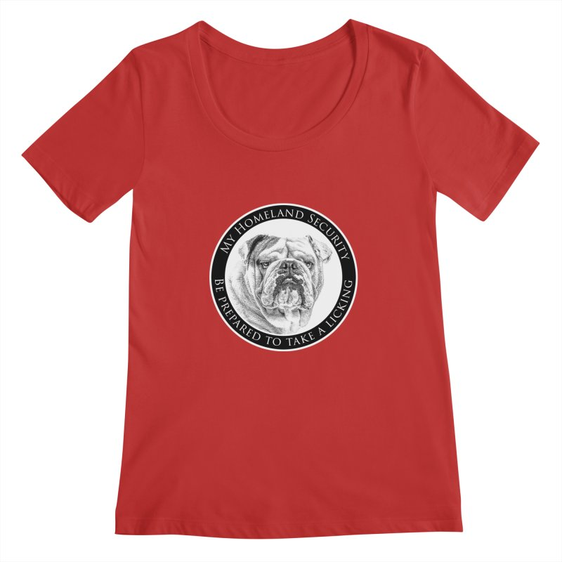 Homeland security Bulldog Women's Regular Scoop Neck by Andy's Paw Prints Shop