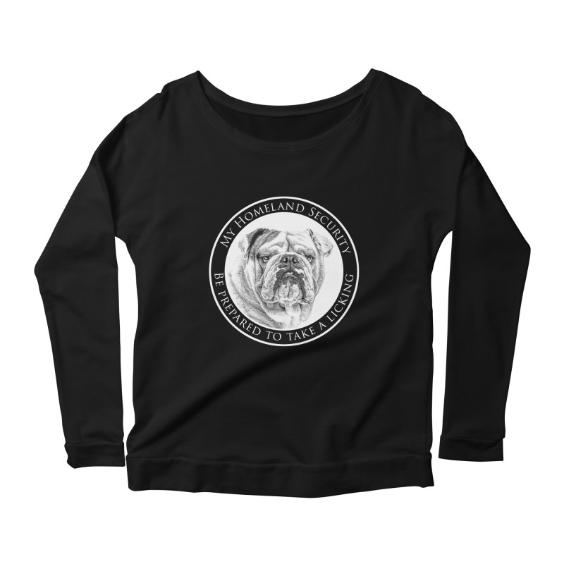 Homeland security Bulldog Women's Scoop Neck Longsleeve T-Shirt by Andy's Paw Prints Shop