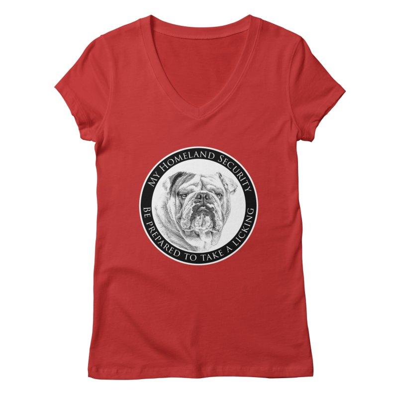 Homeland security Bulldog Women's Regular V-Neck by Andy's Paw Prints Shop