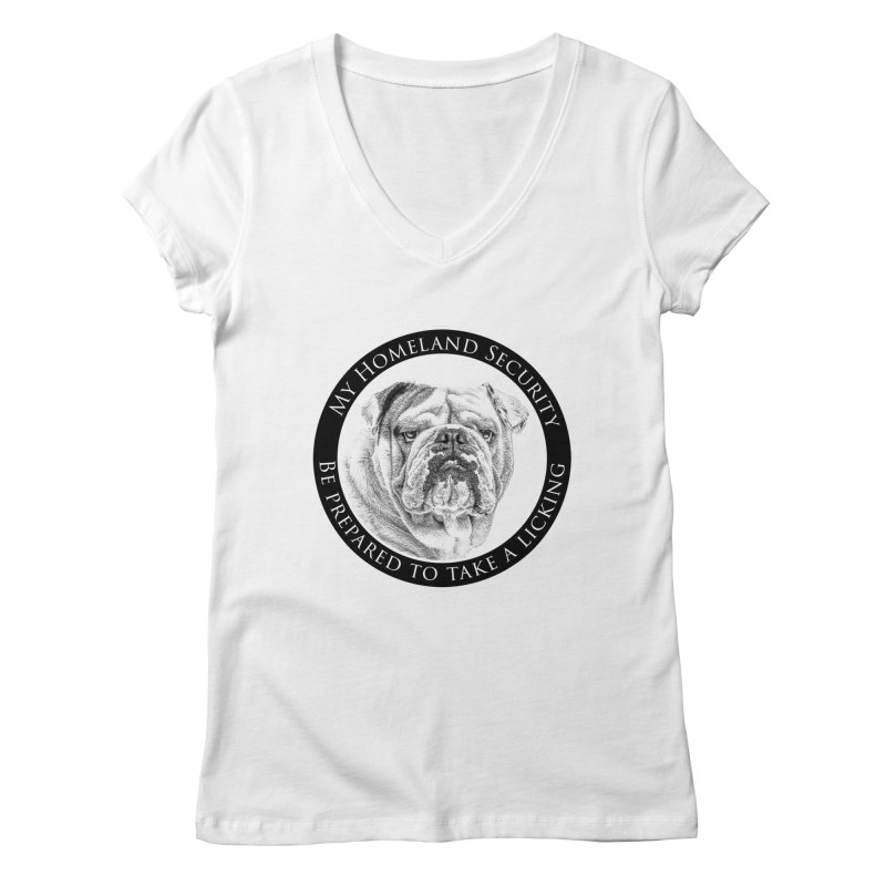 Homeland security Bulldog Women's Regular V-Neck by Andy's Paw Prints Shop
