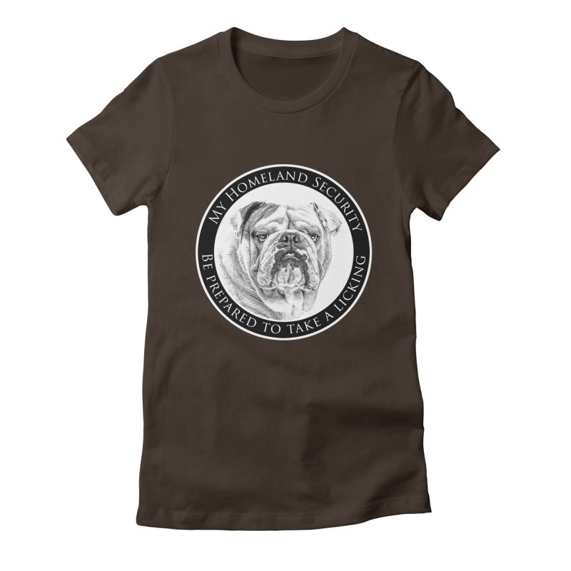 Homeland security Bulldog Women's Fitted T-Shirt by Andy's Paw Prints Shop