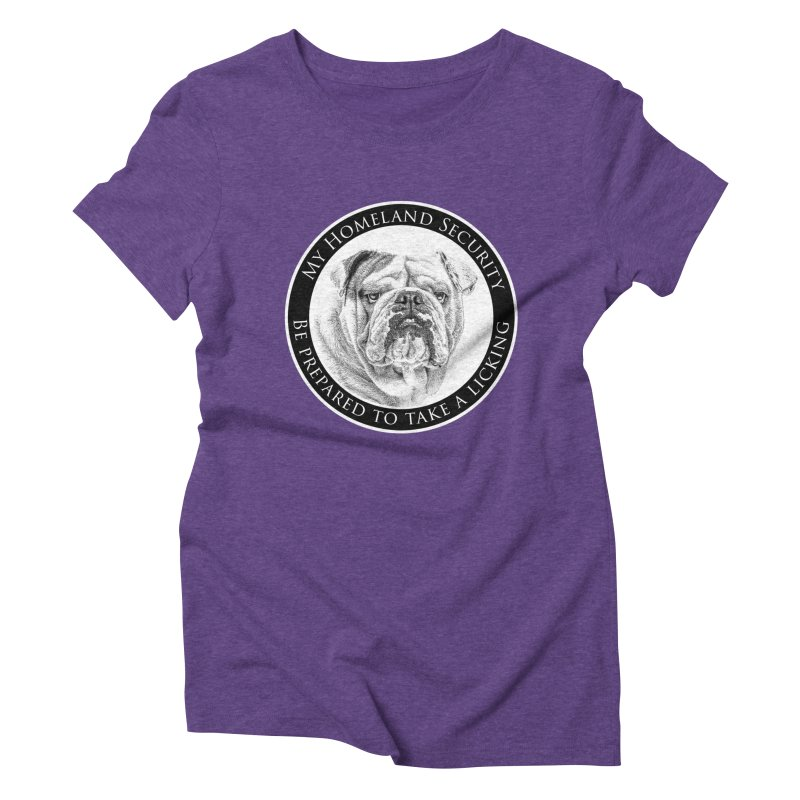 Homeland security Bulldog Women's Triblend T-Shirt by Andy's Paw Prints Shop