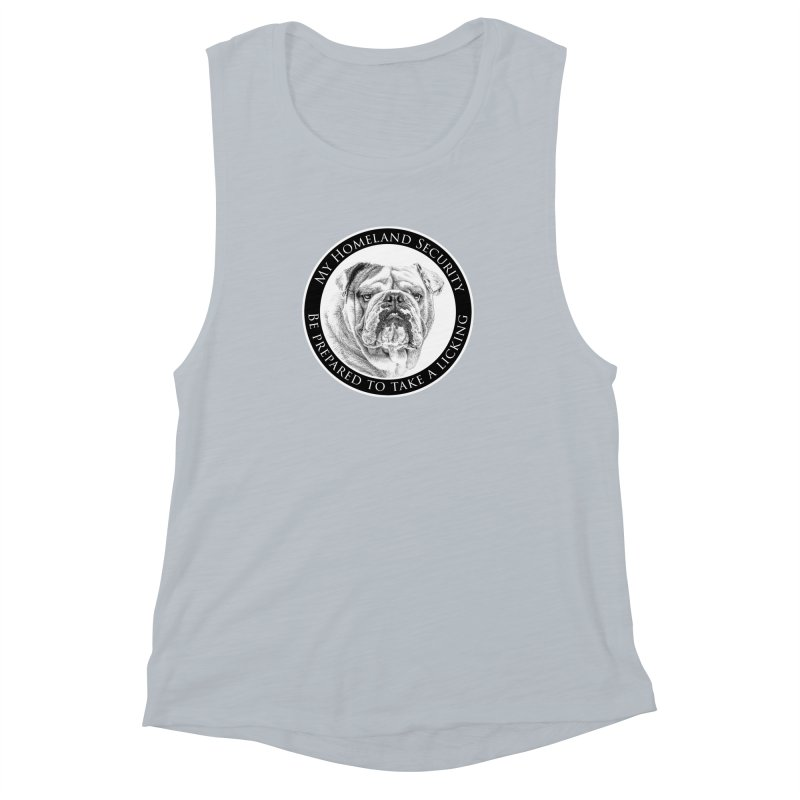 Homeland security Bulldog Women's Muscle Tank by Andy's Paw Prints Shop