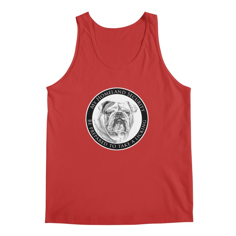 Homeland security Bulldog Men's Regular Tank by Andy's Paw Prints Shop