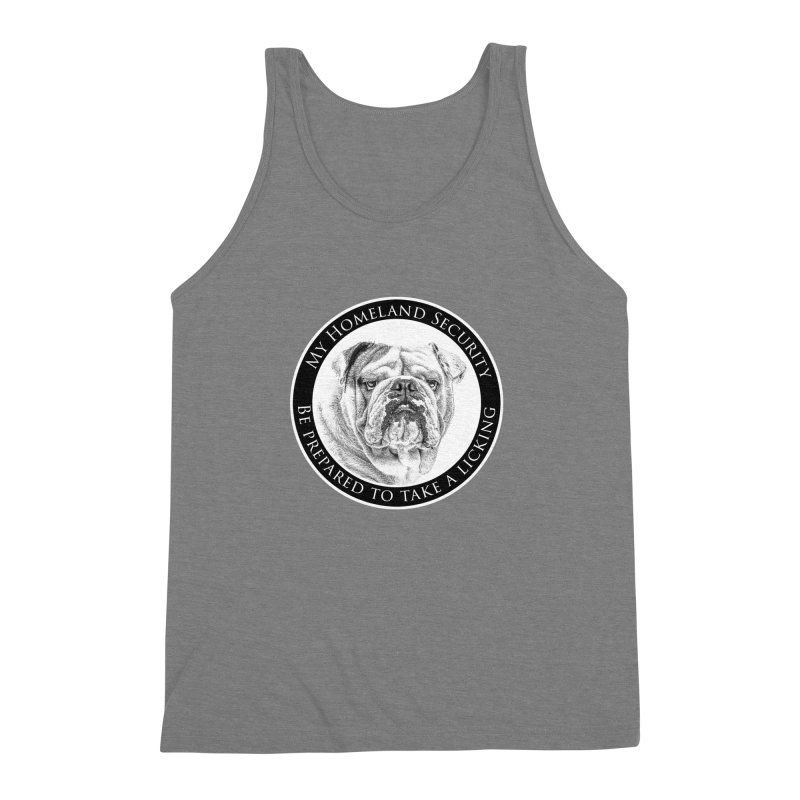 Homeland security Bulldog Men's Triblend Tank by Andy's Paw Prints Shop