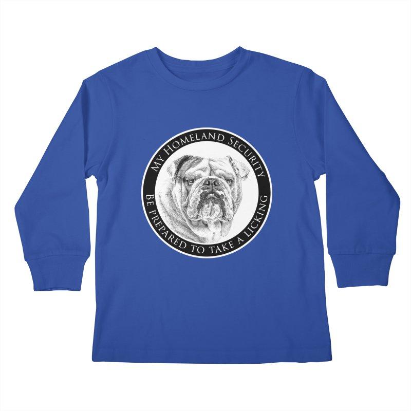 Homeland security Bulldog Kids Longsleeve T-Shirt by Andy's Paw Prints Shop