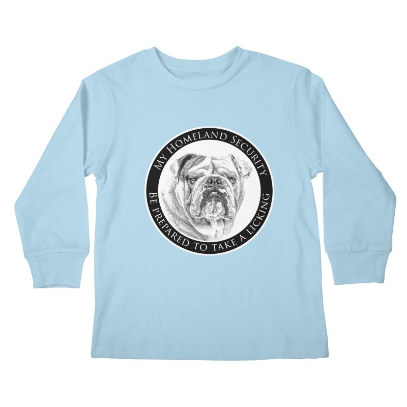 Homeland security Bulldog Kids Longsleeve T-Shirt by Andy's Paw Prints Shop