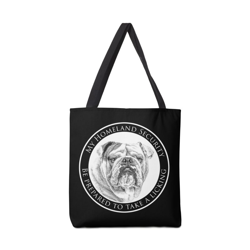 Homeland security Bulldog Accessories Tote Bag Bag by Andy's Paw Prints Shop