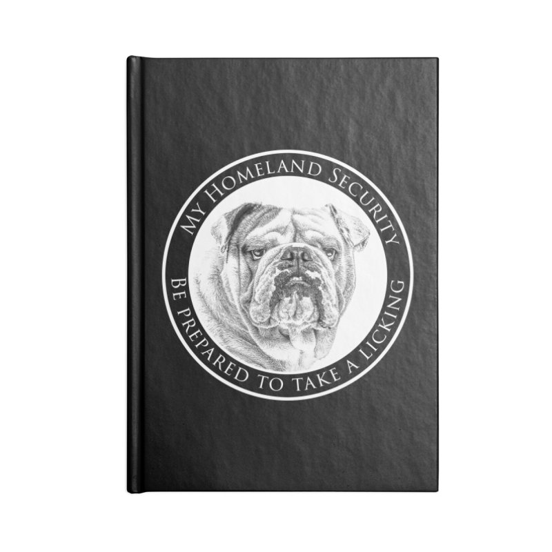 Homeland security Bulldog Accessories Lined Journal Notebook by Andy's Paw Prints Shop