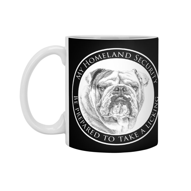 Homeland security Bulldog Accessories Standard Mug by Andy's Paw Prints Shop