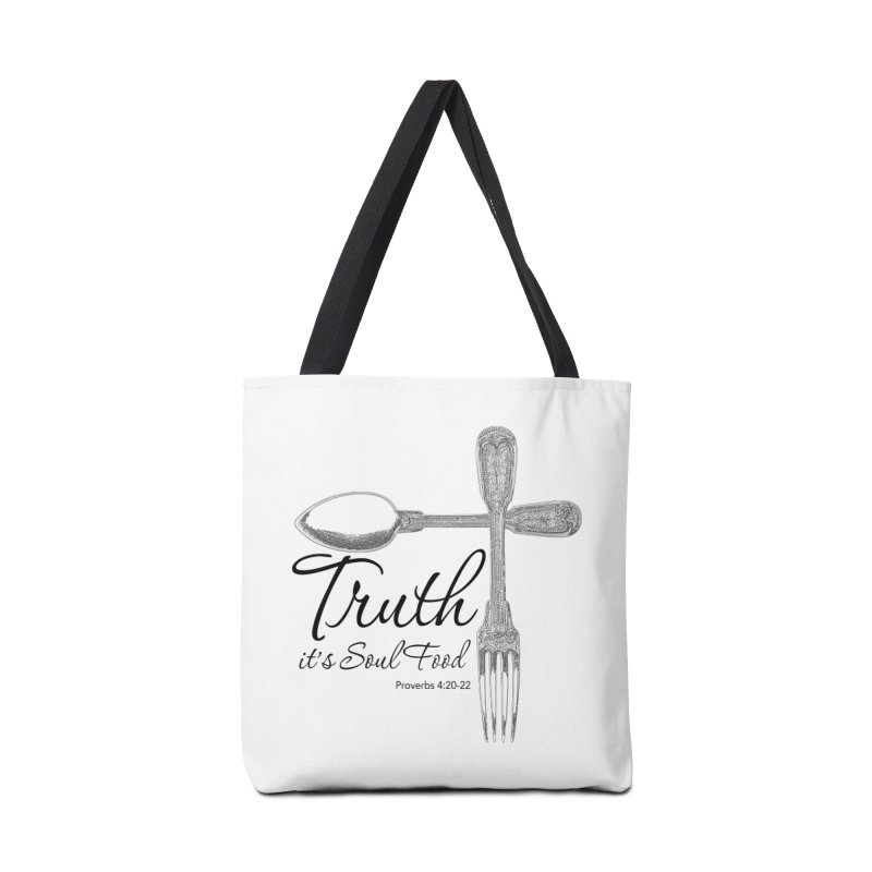 Truth it's soul food Dark Accessories Tote Bag Bag by Andy's Paw Prints Shop