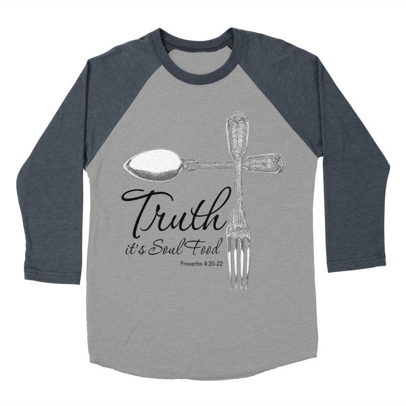 Truth it's soul food Dark Men's Baseball Triblend Longsleeve T-Shirt by Andy's Paw Prints Shop