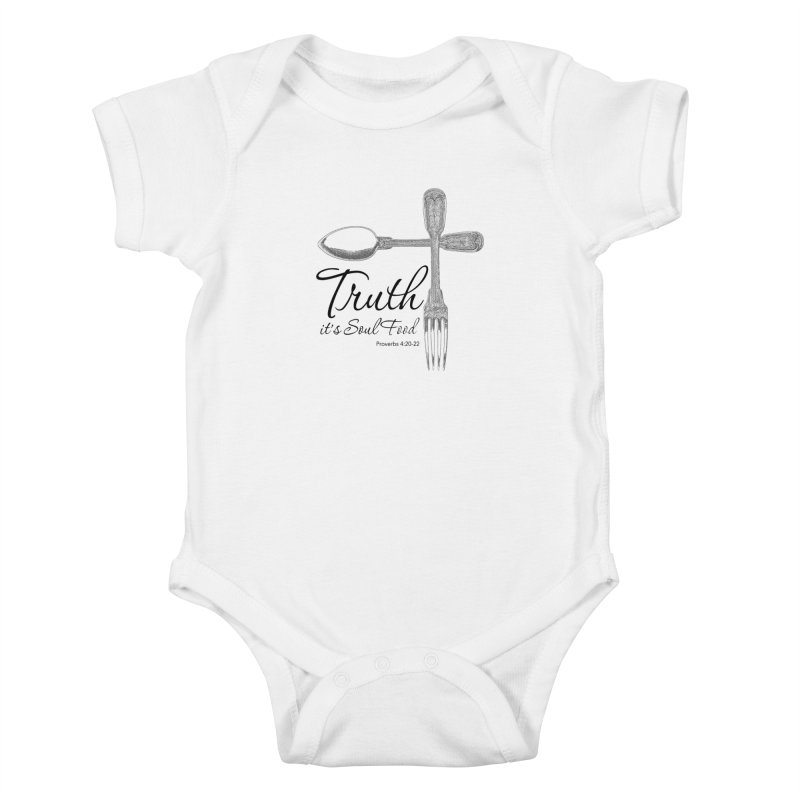 Truth it's soul food Dark Kids Baby Bodysuit by Andy's Paw Prints Shop