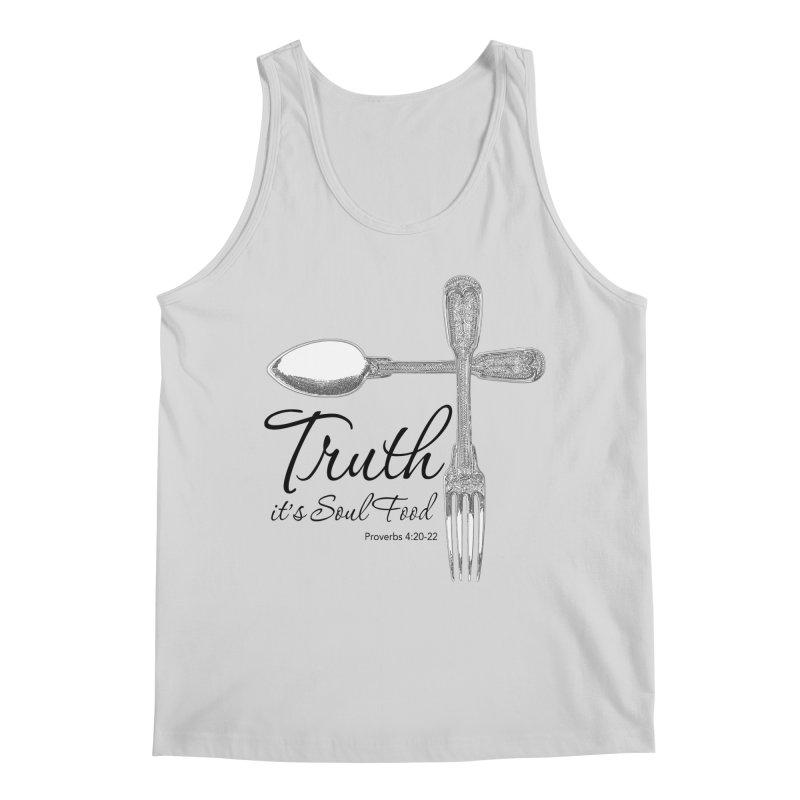 Truth it's soul food Dark Men's Regular Tank by Andy's Paw Prints Shop