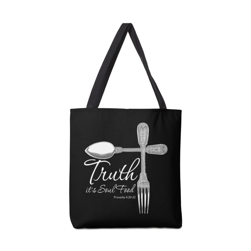 Truth it's soul food light Accessories Bag by Andy's Paw Prints Shop