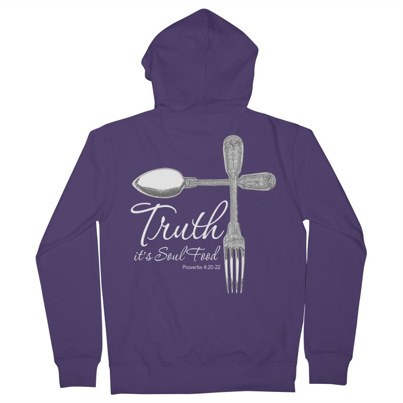 Truth it's soul food light Women's Zip-Up Hoody by Andy's Paw Prints Shop
