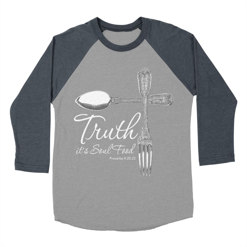Truth it's soul food light Women's Baseball Triblend Longsleeve T-Shirt by Andy's Paw Prints Shop